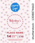 valentines banner a4 size | Shutterstock .eps vector #1308874663