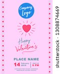 valentines banner a4 size | Shutterstock .eps vector #1308874669