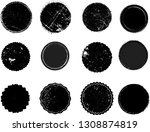 grunge post stamps collection ... | Shutterstock .eps vector #1308874819
