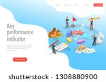 key performance indicator flat... | Shutterstock .eps vector #1308880900