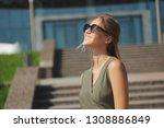 portrait of beautiful yound... | Shutterstock . vector #1308886849
