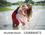 young mother with daughter at... | Shutterstock . vector #1308886873