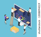 flat 3d isometric business... | Shutterstock .eps vector #1308894019