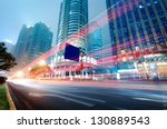 moving car with blur light... | Shutterstock . vector #130889543