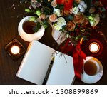 valentines day romantic evening ... | Shutterstock . vector #1308899869