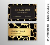 business card trendy leopard... | Shutterstock .eps vector #1308901693