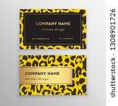 business card trendy leopard... | Shutterstock .eps vector #1308901726