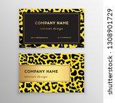 business card trendy leopard... | Shutterstock .eps vector #1308901729
