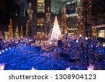 tokyo  japan   december 13 2018 ... | Shutterstock . vector #1308904123