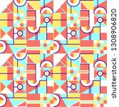 abstract seamless geometric... | Shutterstock .eps vector #1308906820