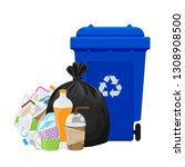 illustration garbage waste and... | Shutterstock .eps vector #1308908500