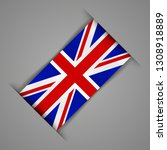 flag of the great britain .... | Shutterstock .eps vector #1308918889