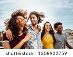 group of men and women walking... | Shutterstock . vector #1308922759
