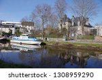 the saint martin canal in rennes | Shutterstock . vector #1308959290
