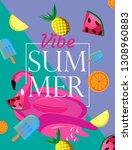 summer vibes cover poster | Shutterstock .eps vector #1308960883