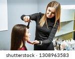 makeup artist creating...   Shutterstock . vector #1308963583