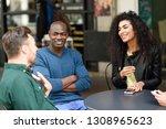 multiracial group of friends... | Shutterstock . vector #1308965623
