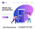 mobile application web design... | Shutterstock .eps vector #1308970750