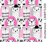 vector seamless pattern with... | Shutterstock .eps vector #1308971200