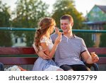 love and affection between a... | Shutterstock . vector #1308975799