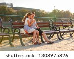 love and affection between a... | Shutterstock . vector #1308975826