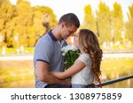 love and affection between a... | Shutterstock . vector #1308975859