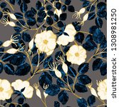 floral seamless pattern with...   Shutterstock . vector #1308981250