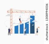 construction investment flat...   Shutterstock .eps vector #1308994036