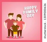 happy family day illustration | Shutterstock .eps vector #1309000636