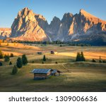 small wooden houses in... | Shutterstock . vector #1309006636