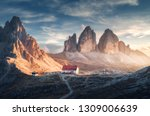 mountain valley with beautiful... | Shutterstock . vector #1309006639