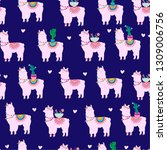 seamless pattern with cute... | Shutterstock .eps vector #1309006756