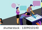 business vector illustration... | Shutterstock .eps vector #1309010140