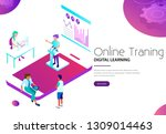 online training and digital... | Shutterstock .eps vector #1309014463