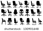 office chairs silhouettes... | Shutterstock .eps vector #130901648