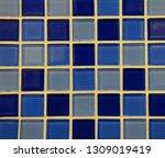 texture of fine ceramic tiles... | Shutterstock . vector #1309019419