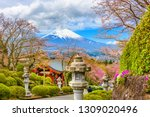 gotemba city  japan at peace... | Shutterstock . vector #1309020496