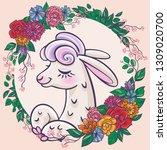 beautiful llama  alpaca... | Shutterstock .eps vector #1309020700