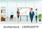 scene of office room and... | Shutterstock .eps vector #1309020979