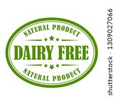 dairy free vector label on... | Shutterstock .eps vector #1309027066