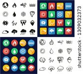 nature elements icons all in... | Shutterstock .eps vector #1309032373