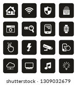 smart home icons white on black | Shutterstock .eps vector #1309032679