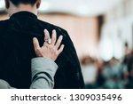 pastor pray for worship team in ...   Shutterstock . vector #1309035496