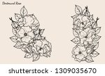 rose vector set by hand drawing.... | Shutterstock .eps vector #1309035670