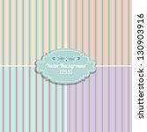 set of retro striped patterns.... | Shutterstock .eps vector #130903916