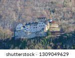 medieval castle on a mountain...   Shutterstock . vector #1309049629