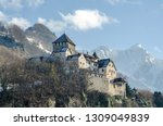medieval castle on a mountain...   Shutterstock . vector #1309049839