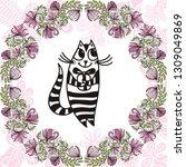 happy birthday greeting card...   Shutterstock .eps vector #1309049869