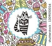 happy birthday greeting card...   Shutterstock .eps vector #1309050016