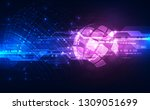 vector digital global... | Shutterstock .eps vector #1309051699